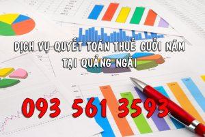 Dịch vụ quyết toán thuế cuối năm tại Quảng Ngãi